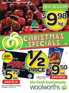 Woolworths weekly specials catalogue offers groceries, food and more