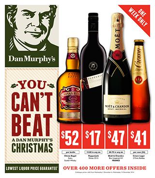 Christmas catalogue out now, on selected wines, liqueurs, beers and more.