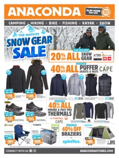 The Massive Snow Gear Sale (Valid Nationally excluding: Cairns, Darwin, Rockhampton, Townsville)