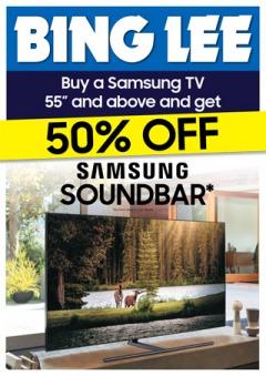 50% Off Samsung Soundbar with TVs
