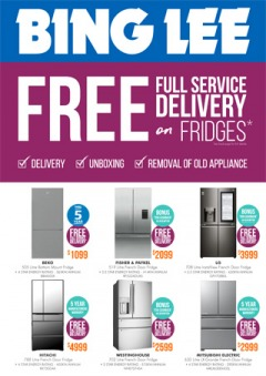 Free Delivery on Fridges