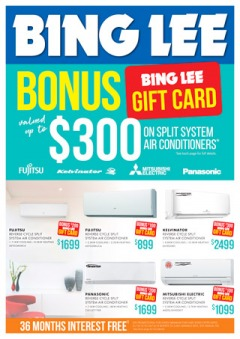 Bonus Gift Card on Air Conditioner