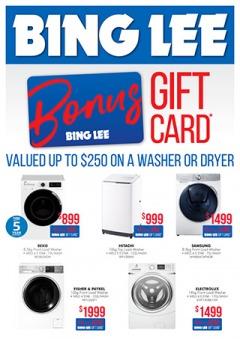 Bonus Gift Card on Laundry