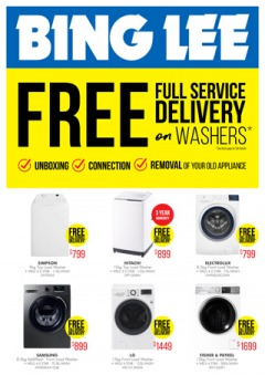 Free Delivery on Washers