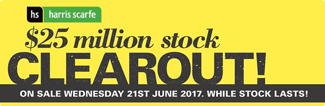 $25 Million Stock Clearout! - Harris Scarfe
