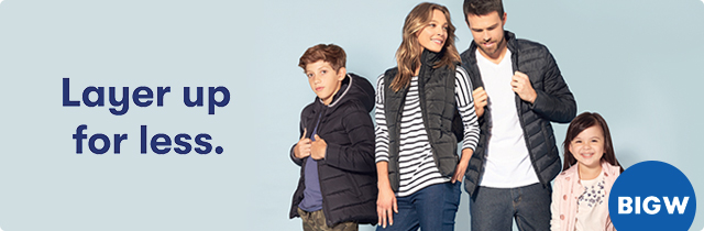 Layer Up For Less - Big W