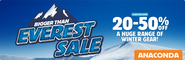 Bigger Than Everest Sale -Anaconda