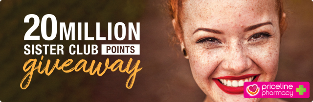 20 Million Sister Club Points Giveaway - Priceline