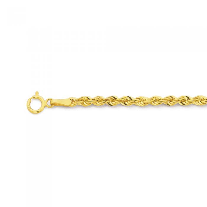 9ct Gold 19cm Rope Bracelet Prouds Catalogue Salefinder