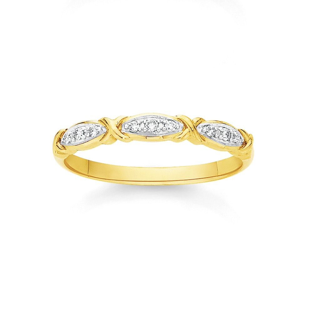 9ct Gold Diamond Crossover Band Angus Coote Catalogue Salefinder