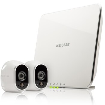 Netgear - Arlo Security System with 2 HD Wire-free Cameras VMS3230