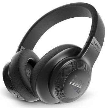 JBL - E55BT Over Ear Headphones - Black - JBLE55BTBLK
