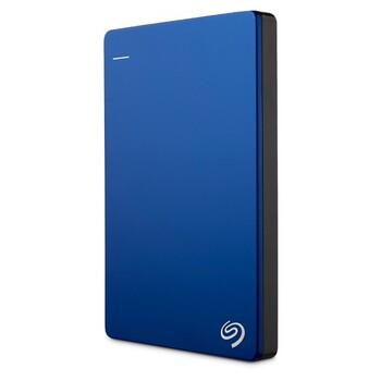 Seagate - 1TB Backup Plus Slim Portable Drive - Blue