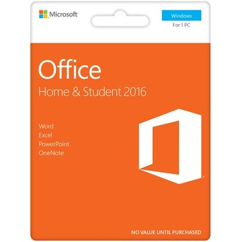 Microsoft - Office Home & Student 2016 eVoucher - PC