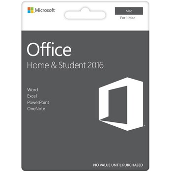 Microsoft - Office Home & Student 2016 eVoucher - 1 Mac Only