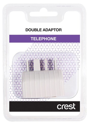 Crest - TA104DA - Telephone Double Adaptor