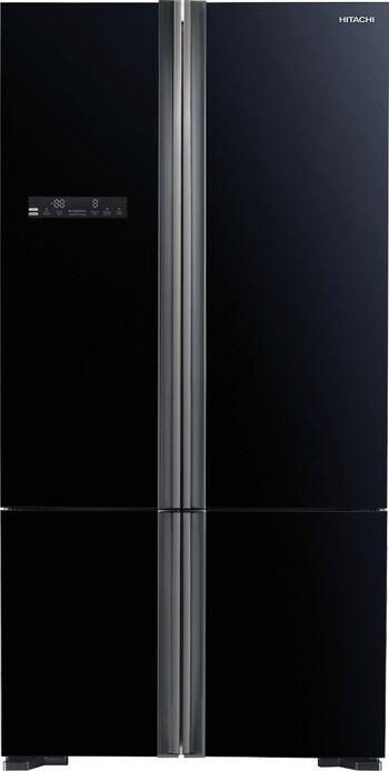 Hitachi - R-WB730PT5GBK - 650L French Door Fridge - Black Glass
