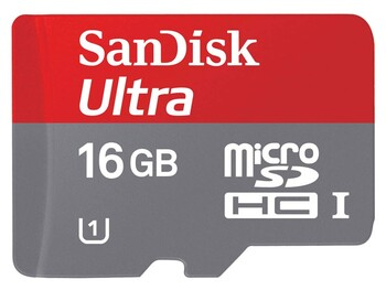 Sandisk - SDQUA-016G-A11A - 16GB Ultra® microSDHC™ UHS-I Card