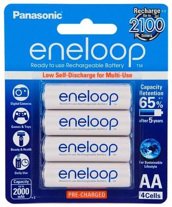 Panasonic - AA Eneloop Rechargeable Batteries - 4pk