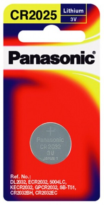 Panasonic - CR-2025PT/1B - Lithium Coin Cell
