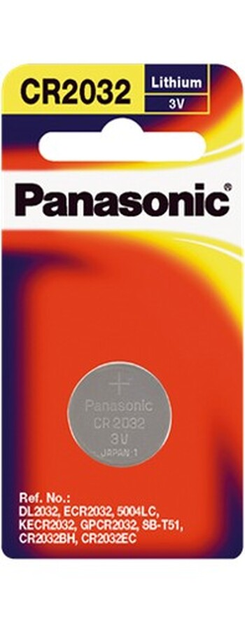 Panasonic - CR-2032PT/1B - Lithium Coin Cell