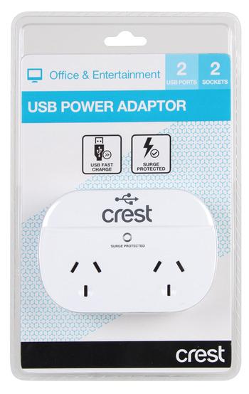 Crest - PWA04976 - USB Power Adaptor