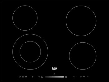 Beko - HIC74502T - 70cm Electric Ceran Cooktop