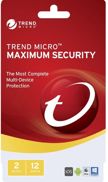 Trend Micro - Maximum Security 2017 (2 Devices) - 12 Months
