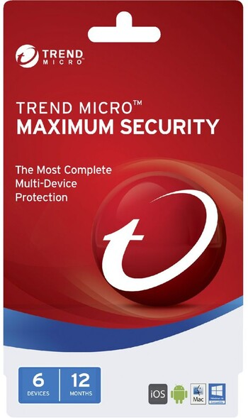 Trend Micro - Maximum Security 2017 (1-6 Devices) - 12 Months