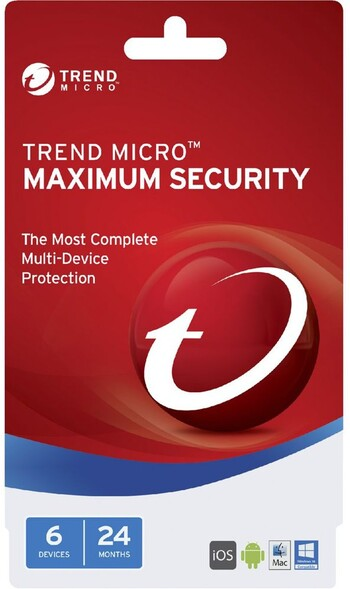 Trend Micro - Maximum Security 2017 (1-6 Devices) - 24 Months