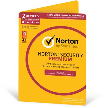 Norton Security Premium - 2 Devices, 1 Year Subscription
