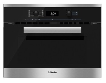 Miele - Microwave Combination Oven - H 6400 BM Clean Steel