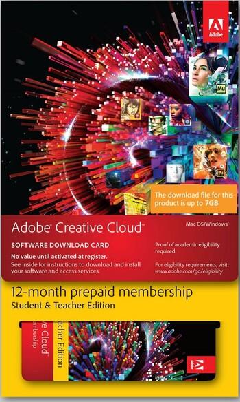 Adobe - Creative Cloud Student & Teacher Edition
