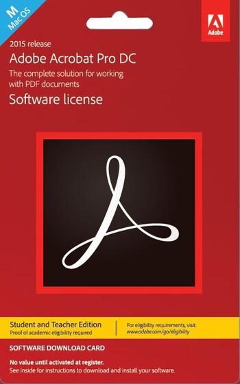 Adobe - Acrobat Pro DC Mac - Student Teacher Edition