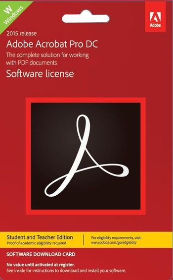 Adobe - Acrobat Pro DC Windows - Student Teacher Edition