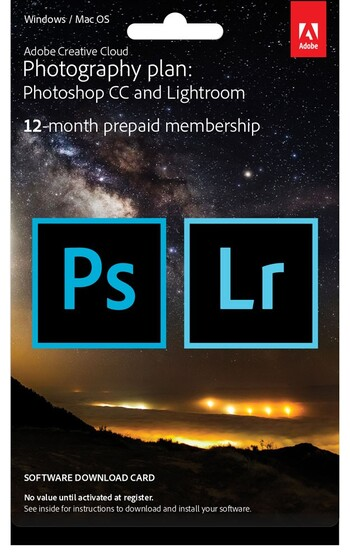 Adobe - Creative Cloud Photography Plan - Commercial