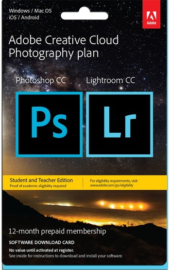 Adobe - Creative Cloud Photography Plan - Student & Teacher Ed. - 12 Month Membership