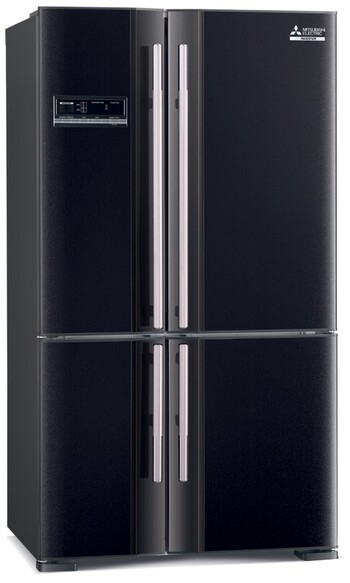 Mitsubishi - MR-L650EH-D-B-A - 650L French Door Fridge