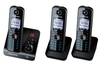 Panasonic - KX-TG8163ALB - Cordless Phone – Triple Pack