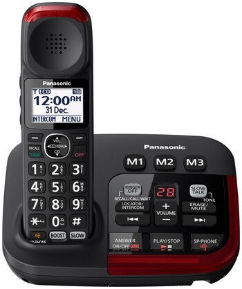 Panasonic - Amplified Cordless Telephone - KX-TGM420AZB