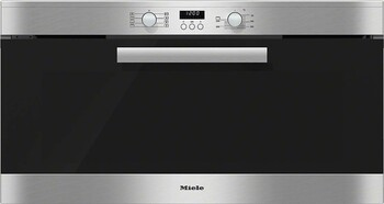 Miele - H 6290 B - CleanSteel -  90cm Built-in Wall Oven