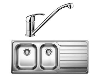 Blanco - DINAS8S175LK + BT489 - Sink & Tap Pack