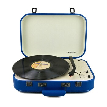 Crosley - CR6026A-BL - Coupe Bluetooth Turntable Blue