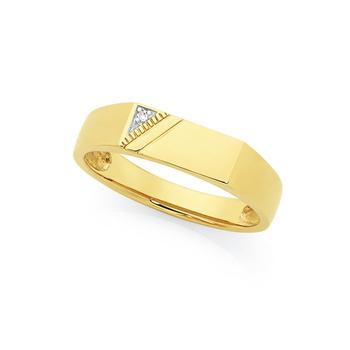 9ct Gold Men's Diamond Ring