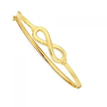 9ct Gold 60mm Infinity Bangle