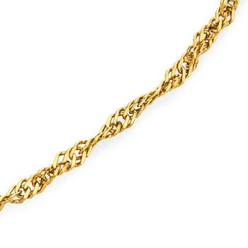 9ct Gold 25cm Singapore Anklet