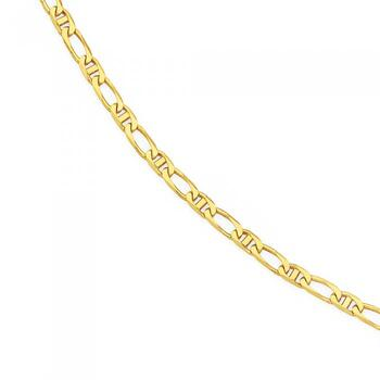 9ct Gold 25cm Marine 1+1 Anklet