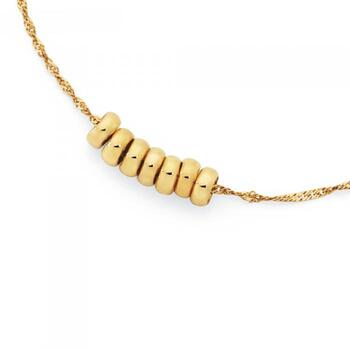 9ct Gold 25cm Rings Of Luck Anklet