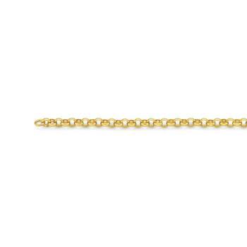 9ct Gold 55cm Solid Round Belcher Chain
