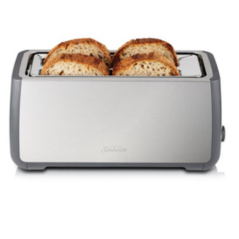 Long Slot Toaster 4 Slice Stainless Steel